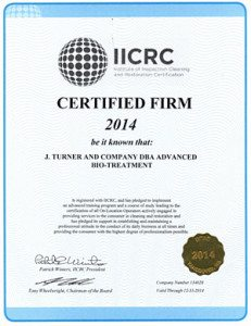 Odor Control certified by IICRC
