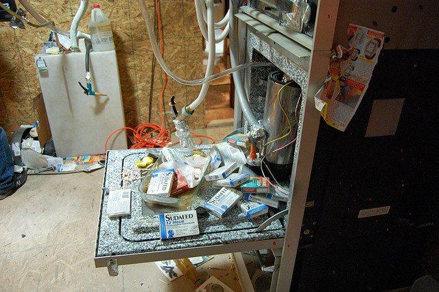 Meth lab in Oakland, CA